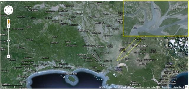 Peta Kampung Laut Versi Google, Banjarsari daerah Pondok, Pangandaran daerah Wisata